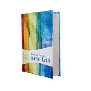 Biblia de estudio arco íris RVR60 tapa dura