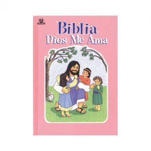 Biblia Dios me ama rosada