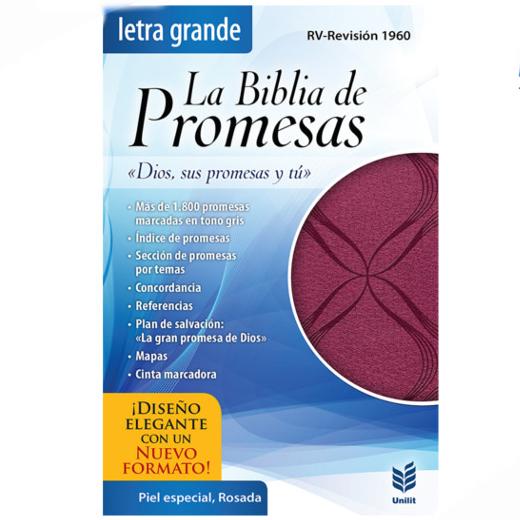 Biblia de promesas letra grande rosada