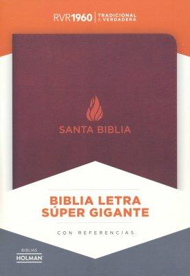 Biblia Letra Super Gigante Marrón Piel Fabricada
