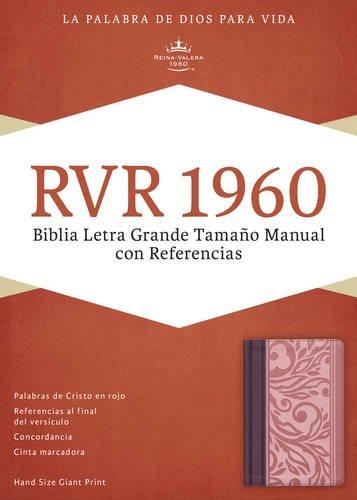 Biblia RVR60 Manual Letra Grande con Referencias Vinotinto/Rosado