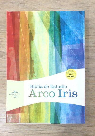 Biblia de Estudio Arco Iris RVR60 en piel