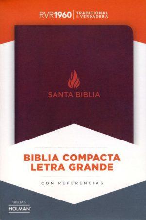 RVR 1960 Biblia Compacta Letra Grande marron, piel fabricada