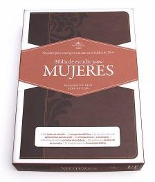 RVR 1960 Biblia de Estudio para Mujeres, cafe simil piel con indice