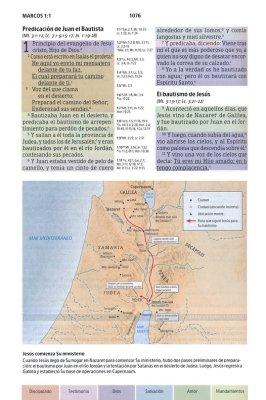 Biblia Estudio Arcoíris Azul RBR60 Símil Piel