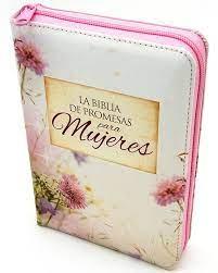 Biblia de Promesas Compacta Floral con Cierre
